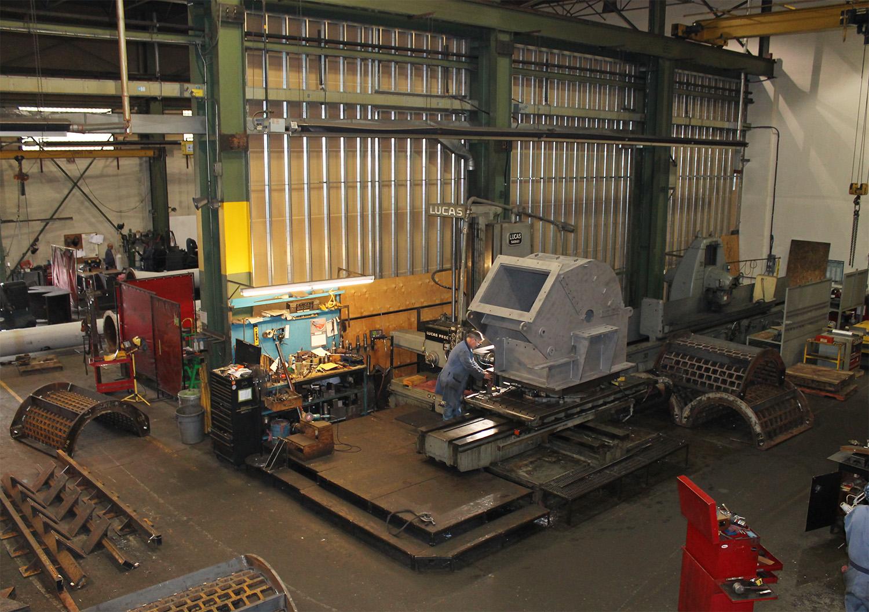 Brunette Machinery - Drum Chipper Parts Machining