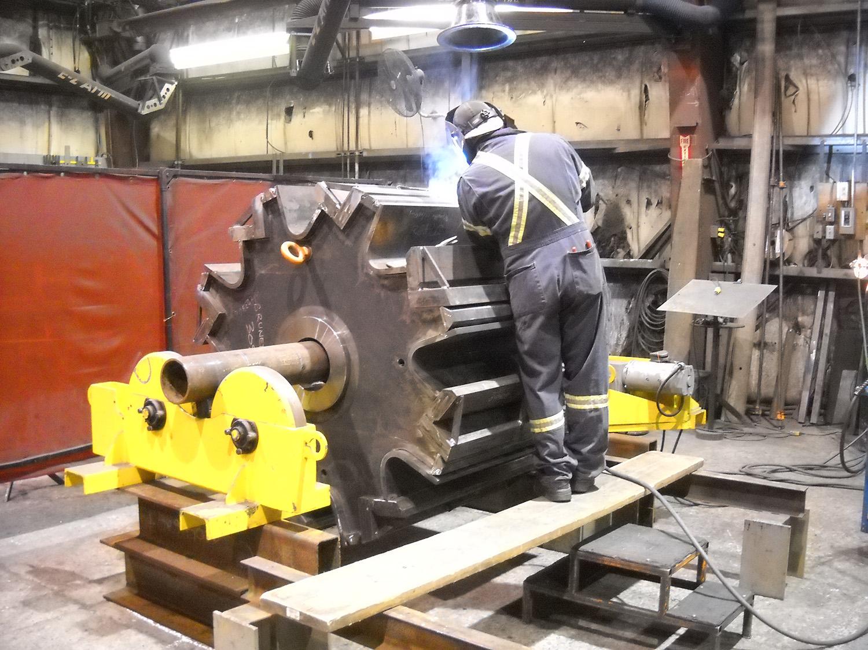 Brunette Machinery - Rotor Welding