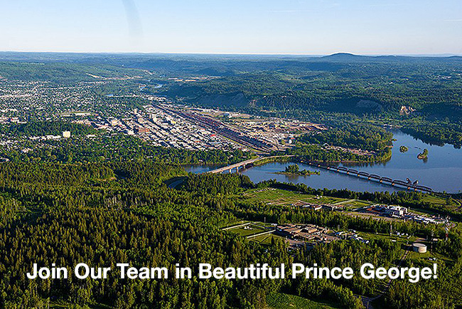 Aerial Photo of Prince George, BC